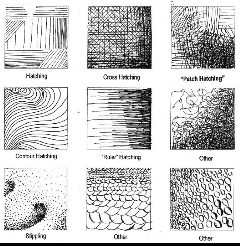 Line Art Exercises : Exercise texture old sunywcc d design art