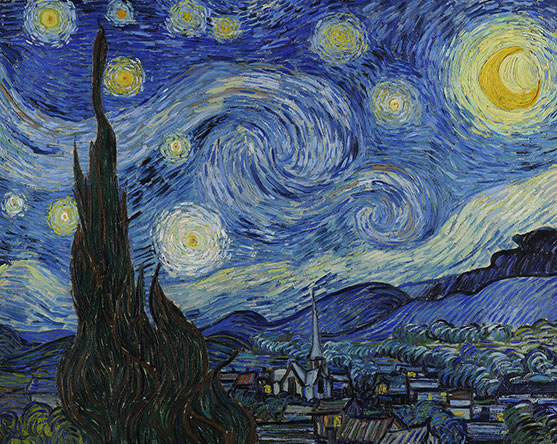Van Gogh, The Starry Night in Google Art Project