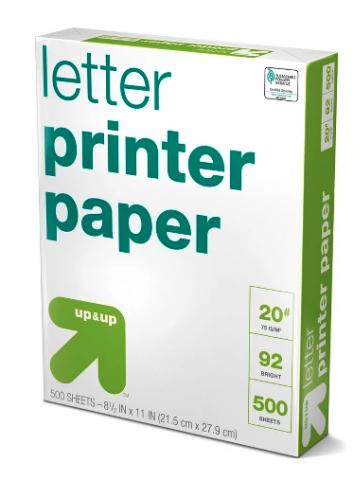 copy paper, letter size
